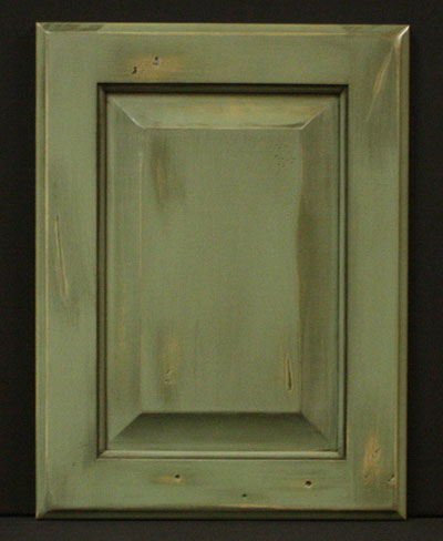 Olive green distressed standard r p square door